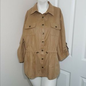 chicos brown jacket Size 3